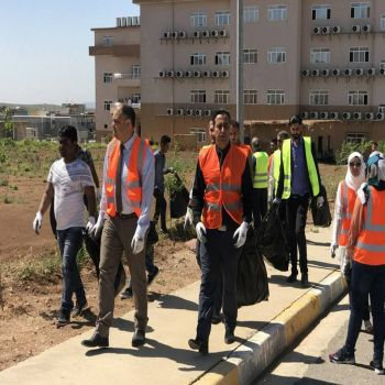 Cihan University-Duhok participates in the cleaning campaign