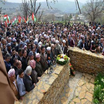 A committee from Duhok university Visited shrine of one of the Kurdish symbol leaders mala Mustafa Barzani