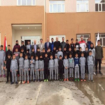Cihan University-Duhok welcomed the Duban Football Academy for children