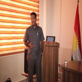 A seminar was held by Dr. D. Yuvaraj