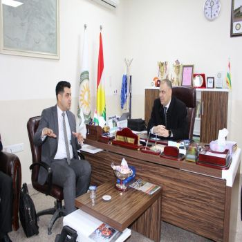 A delegation from the ministry of higher education and scientific research visits Cihan University- Duhok