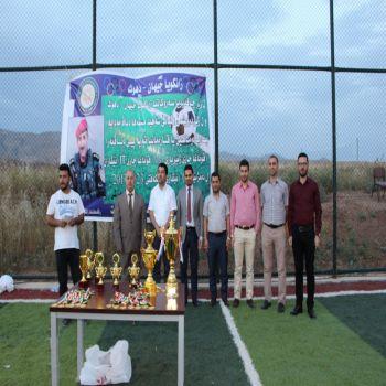 Championship of Football among all Departments of Cihan University