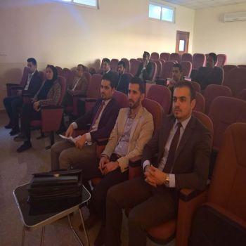 A seminar was held by Dr. Talal Mahmood Kadawi