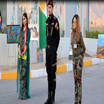 Celebrating Kurdish flag day at Cihan University - Duhok