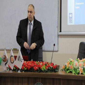 """University President Delivered a seminar entitled """"Human development index"""""""