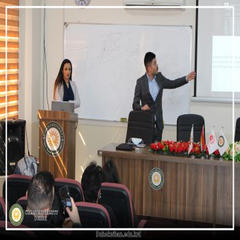 seminar was presented by the students of the Computer Science Department, (Akram Youssef Saleh) and (Berivan Taher Ahmed)