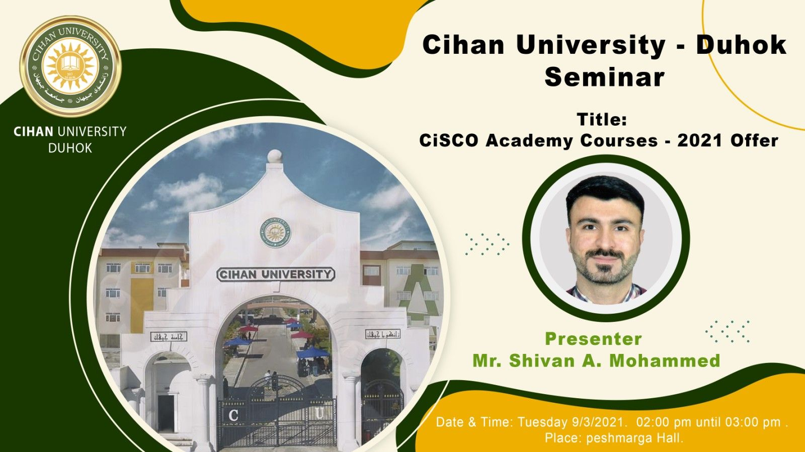 Seminar about analyzing a course presented to the CCNA1 network