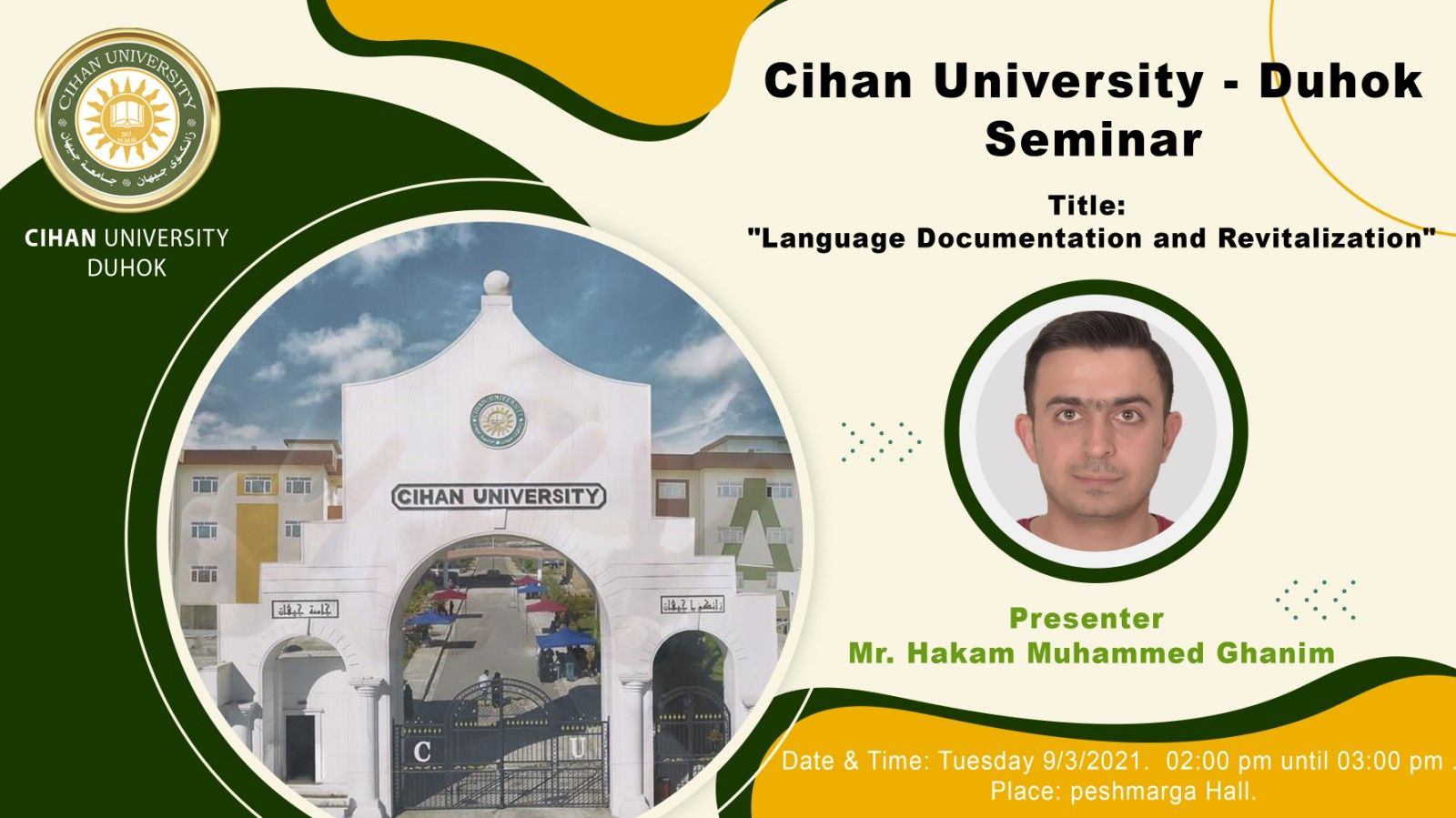 a lecture entitled : Documentation and Revival of Languages