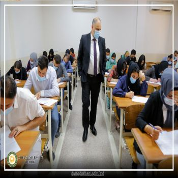 The President of Cihan University - Duhok inspected the examination process in the examination halls (Second Semester - First round)