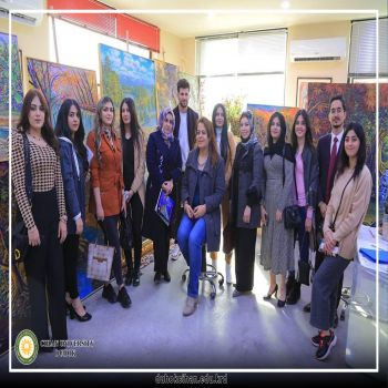 a scientific trip for students of the third and fourth stage of the Department of Art Education.