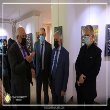 Opening of a joint plastic arts exhibition for students of the Fine Arts Department in Erbil
