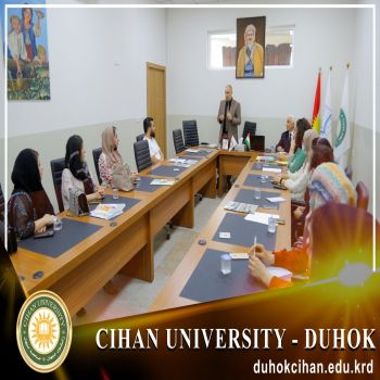 The training course (Preparing the Economic Feasibility Study) continues at Cihan University - Duhok in cooperation with the Directorate of Investment of Duhok Governorate