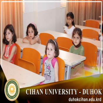 The opening cermony of a summer course for childern at Cihan University-Duhok