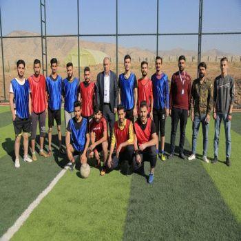A friendly match between Cihan University - Duhok Students and Cihan University - Arbil students