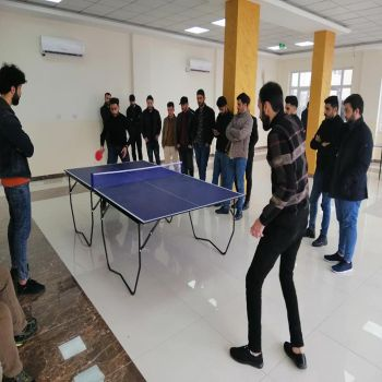 A ping pong Championship at Cihan University - Duhok