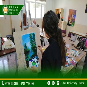 A painting contest between Students