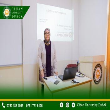 A seminar entitled (Physiognomy: The Language of the Eyes)