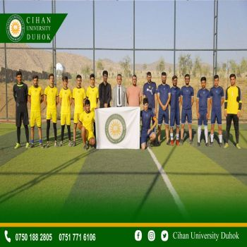 attention to youth capabilities Sport Unit of Cihan University-Duhok inauguarated the football tournament in the university yard