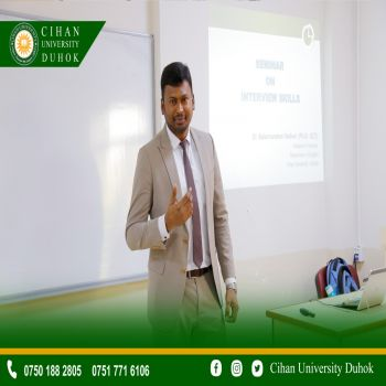 A seminar entitled : interview Skills