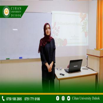 A seminar entitled : Anti-Oxidants Rich Foods