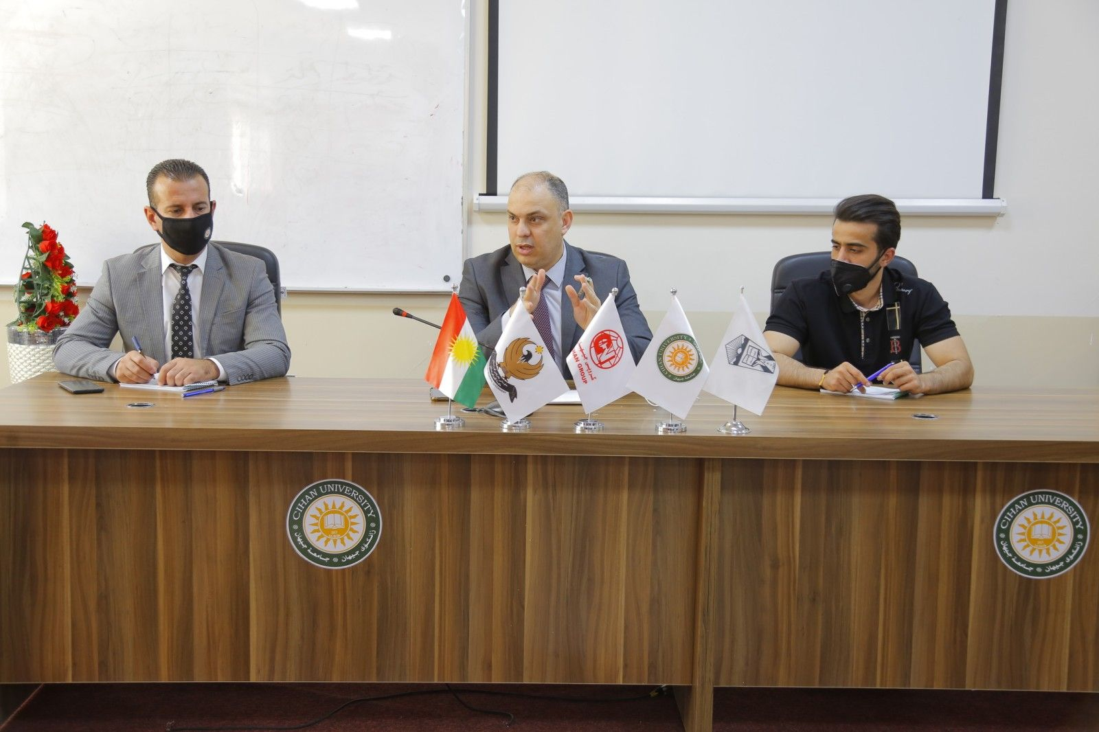 A meeting was held with representatives of all the scientific departments at the university,