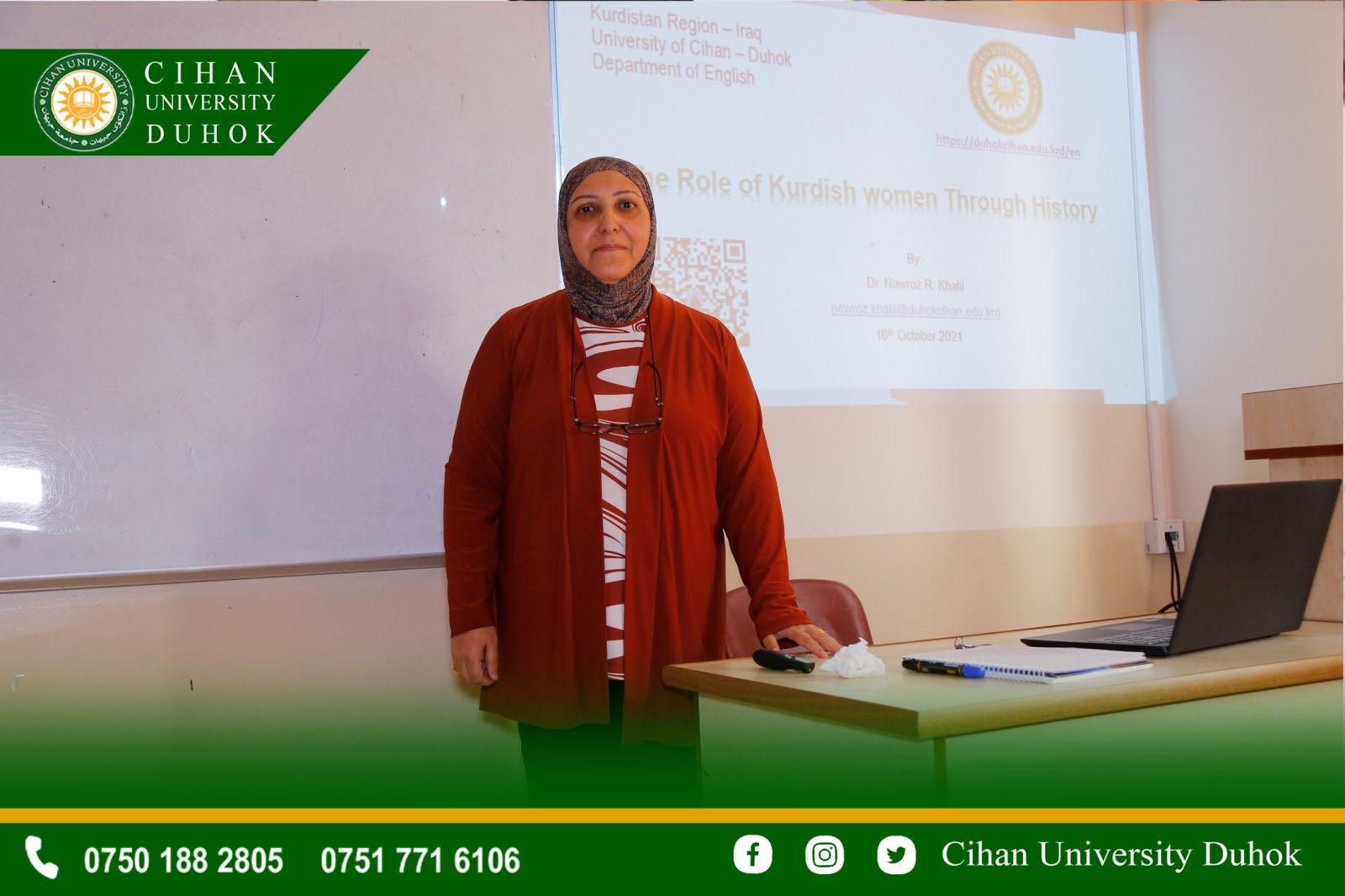 A seminar entitled : The Rule of Kurdish Women Through History