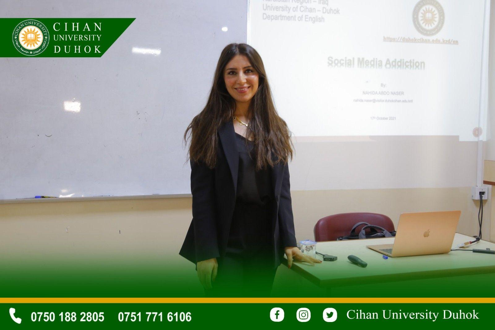 A seminar entitled :Social Media Addiction