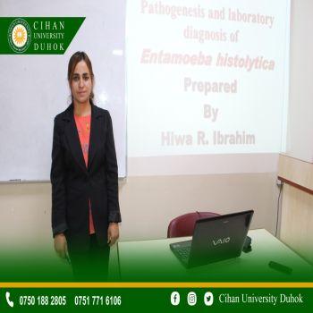 A seminar entitled : Pathogenesis and Laboratory Diagnosis of Entamoeba Histolytic