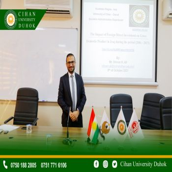 seminar entitled : The Impact of Foreign Direct Investment on Gross Domestic Product in Iraq During the Period (2006 - 2015)
