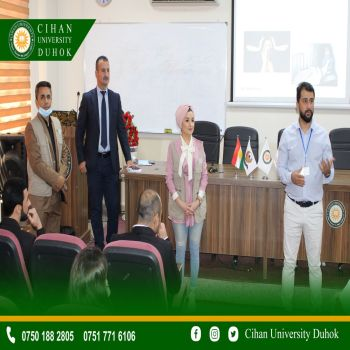 The Department of General Education at Cihan University - Duhok and in cooperation with Action Against Hunger (ACF) held a joint activity